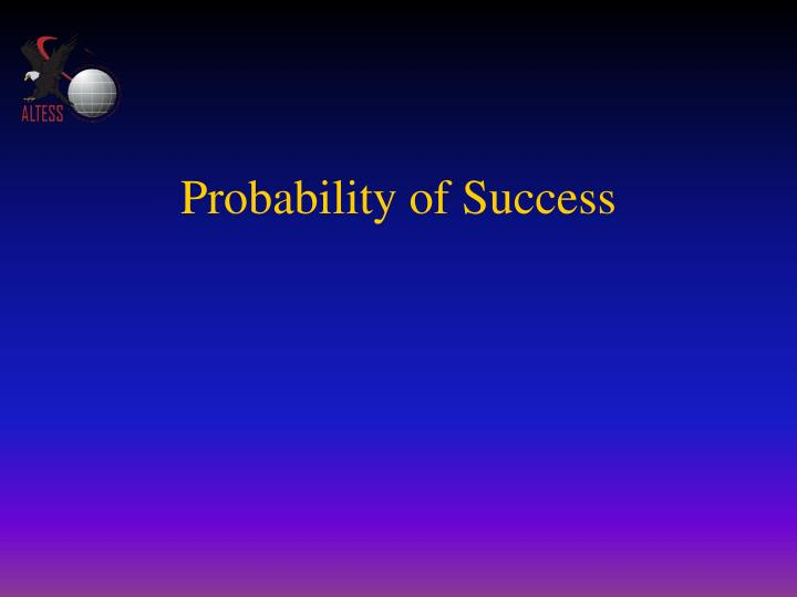 probability of success n.