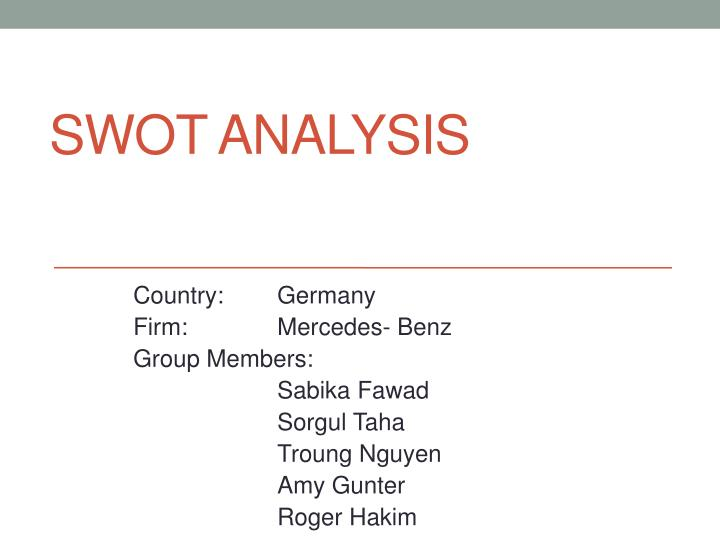 swot analysis of mercedes benz