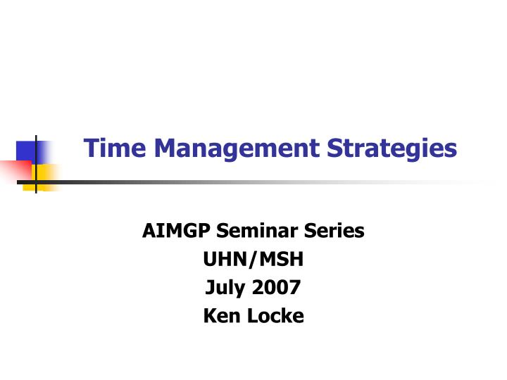 time management strategies n.