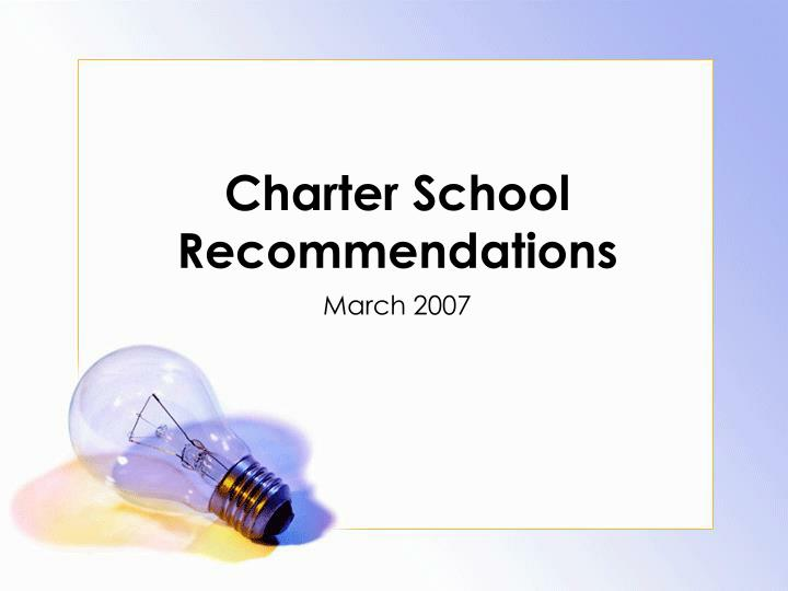 charter school recommendations n.