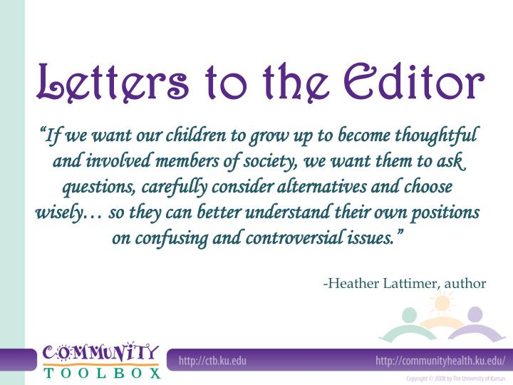 letters to the editor n.