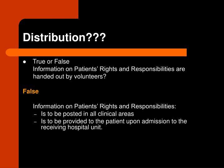 Distribution???