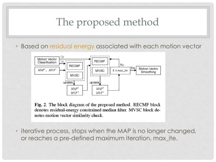 The proposed methodology