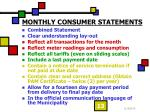monthly consumer statements