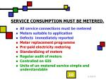 service consumption must be metered