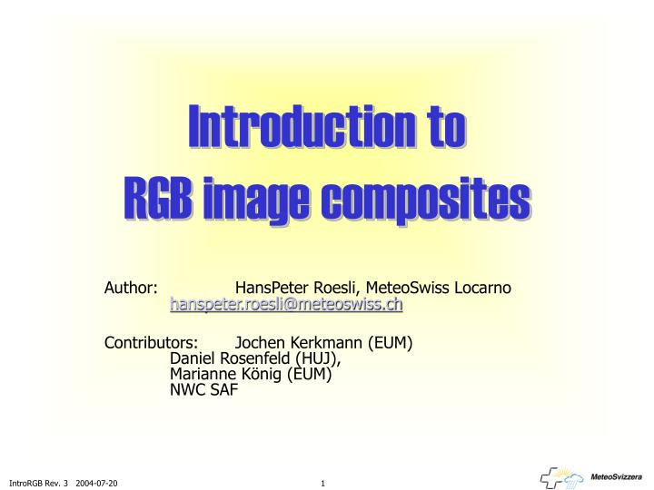 introduction to rgb image composites n.