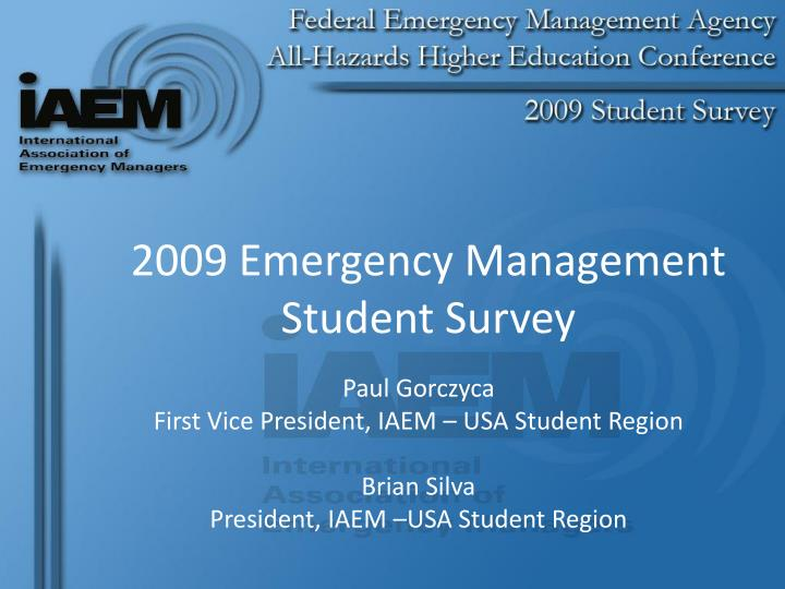 2009 emergency management student survey n.