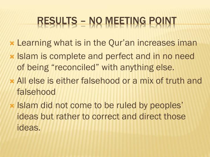 Learning what is in the Qur'an increases iman