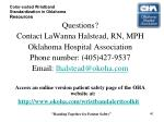 color coded wristband standardization in oklahoma resources