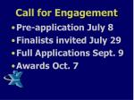 call for engagement1