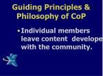 guiding principles philosophy of cop3