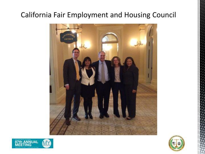 California Fair Employment and Housing Council