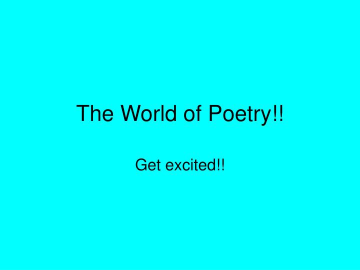 the world of poetry n.