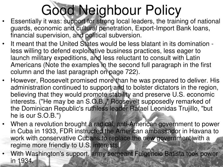 good neighbour policy n.