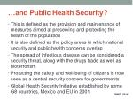 and public health security