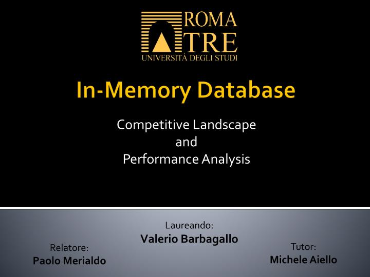 competitive landscape and performance analysis n.