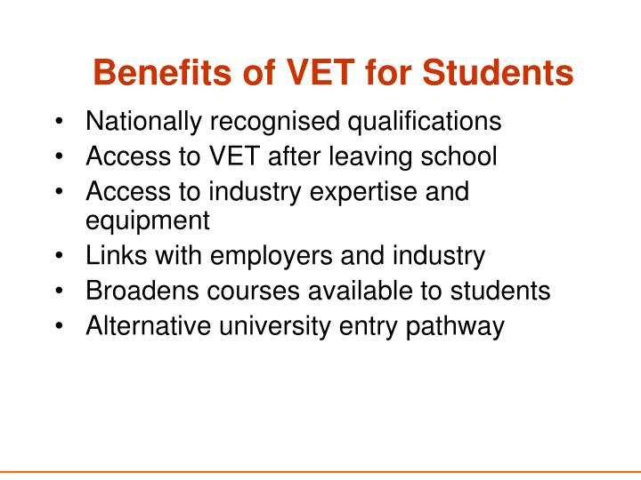 Benefits of VET for Students