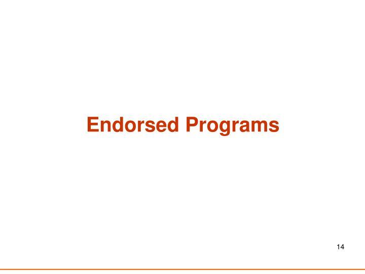 Endorsed Programs