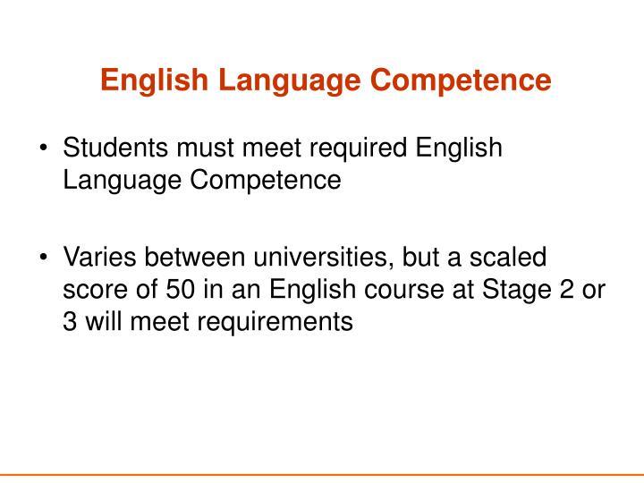 English Language Competence