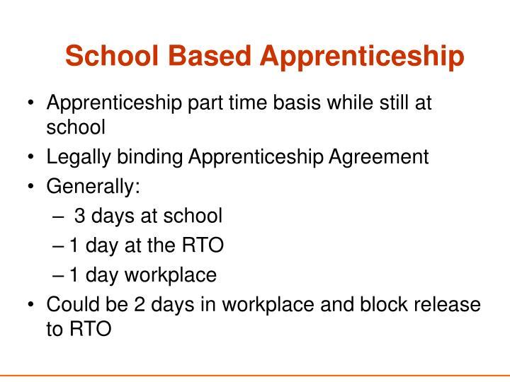School Based Apprenticeship
