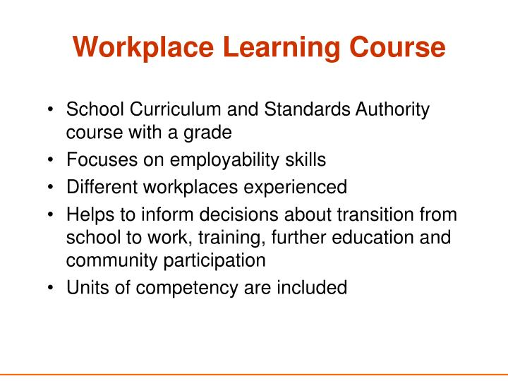 Workplace Learning Course