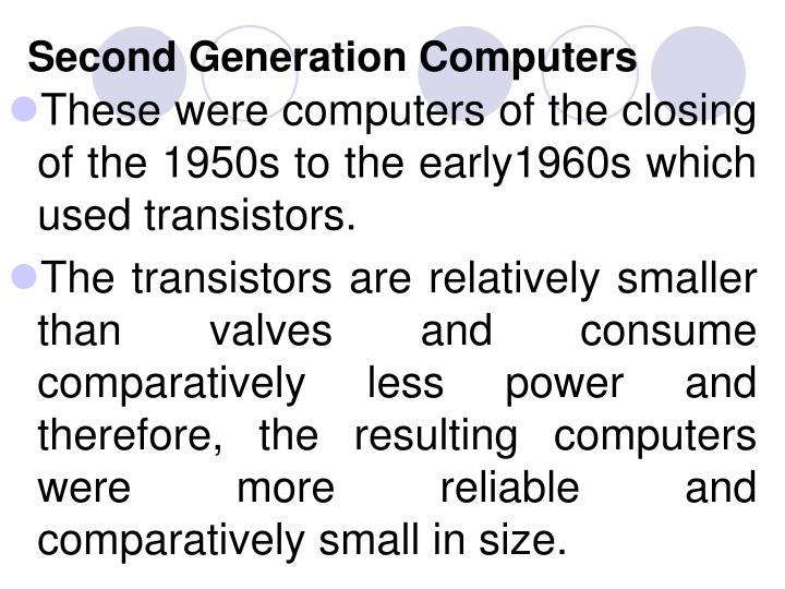 Second Generation Computers