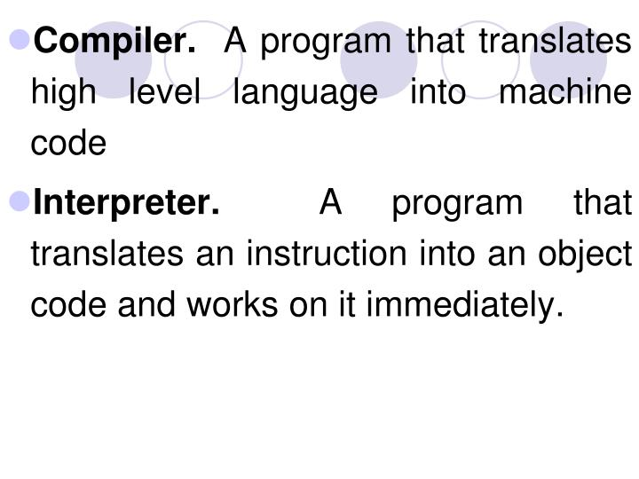 Compiler.