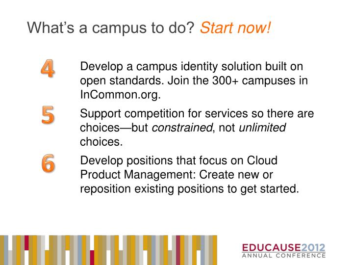 What's a campus to do?