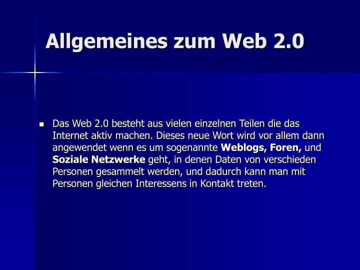 Allgemeines zum web 2 0
