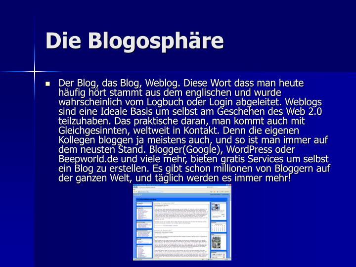 Die Blogosphäre
