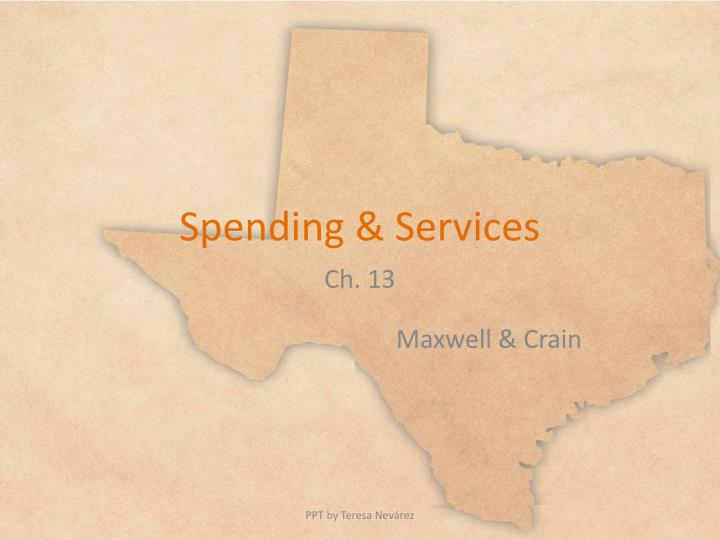 spending services n.
