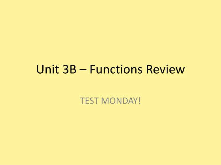 unit 3b functions review n.