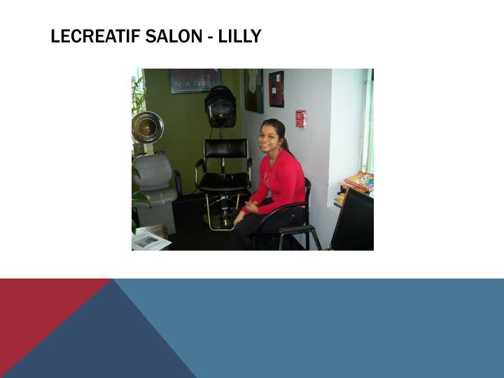 Lecreatif salon - Lilly