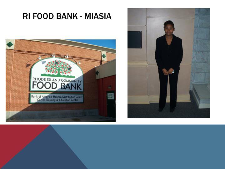 Ri food bank - miasia