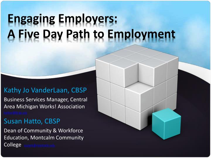 engaging employers a five day path to employment n.