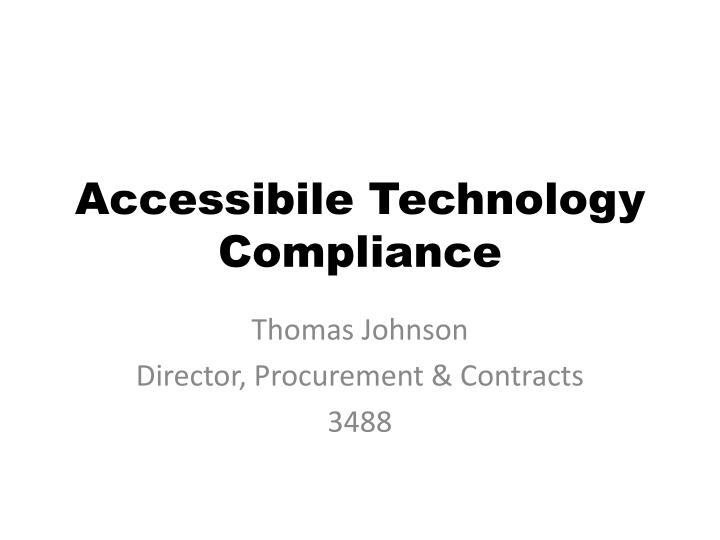 accessibile technology compliance n.