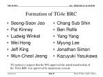 formation of tg4e brc