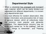 departmental style