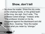 show don t tell