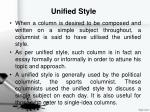 unified style