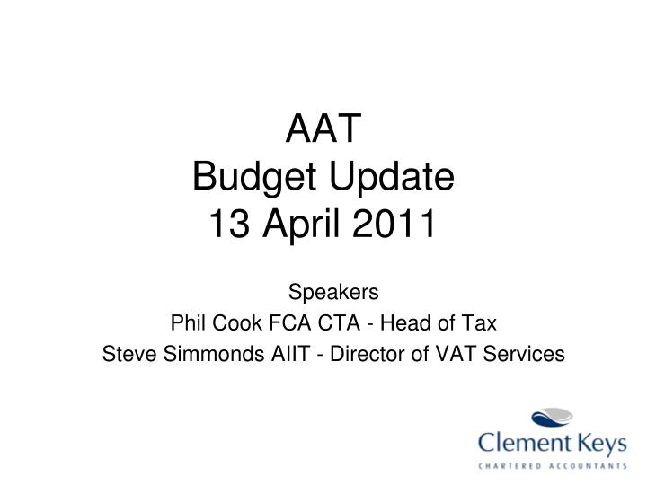 aat budget update 13 april 2011 n.