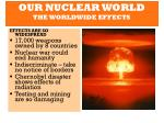 our nuclear world the worldwide effects