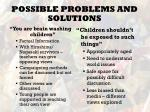 possible problems and solutions