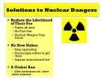 solutions to nuclear dangers