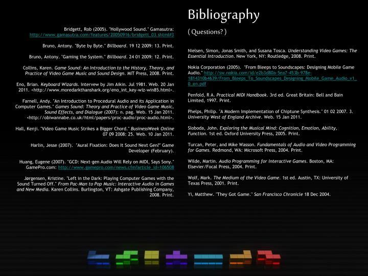"""Bridgett, Rob (2005). """"Hollywood Sound."""" Gamasutra:"""