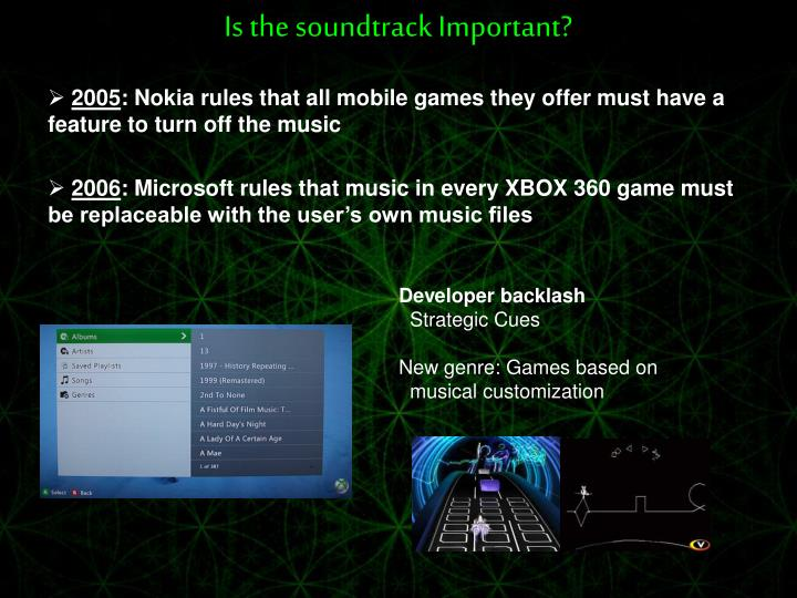 Is the soundtrack Important?
