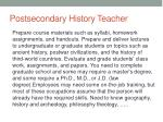 postsecondary history teacher