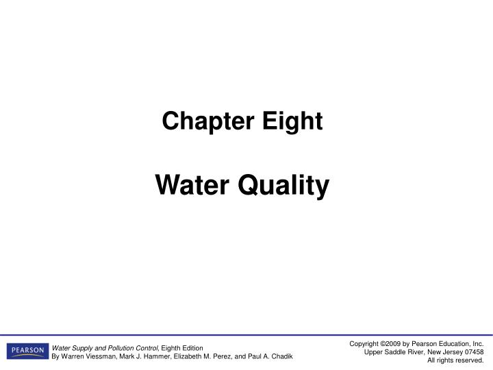 chapter eight water quality n.