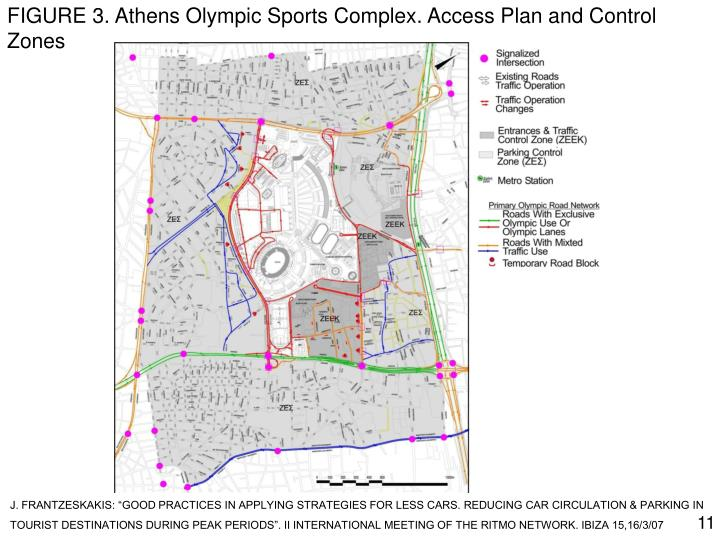 FIGURE 3. Athens Olympic Sports Complex. Access Plan and Control Zones