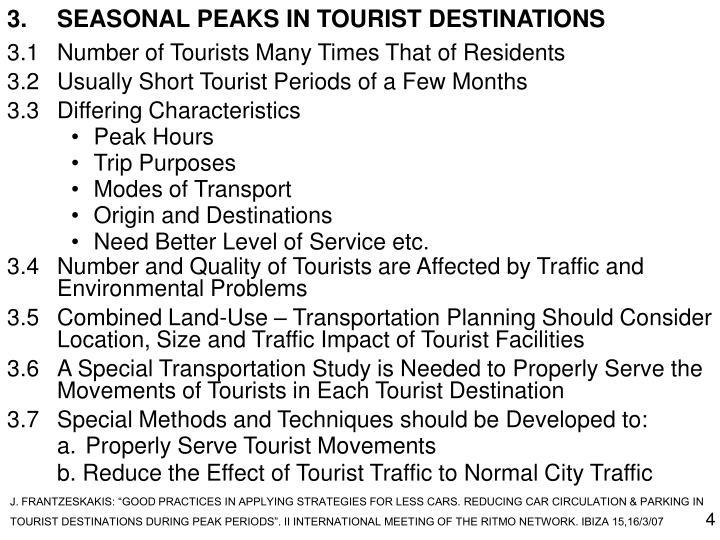 3.SEASONAL PEAKS IN TOURIST DESTINATIONS